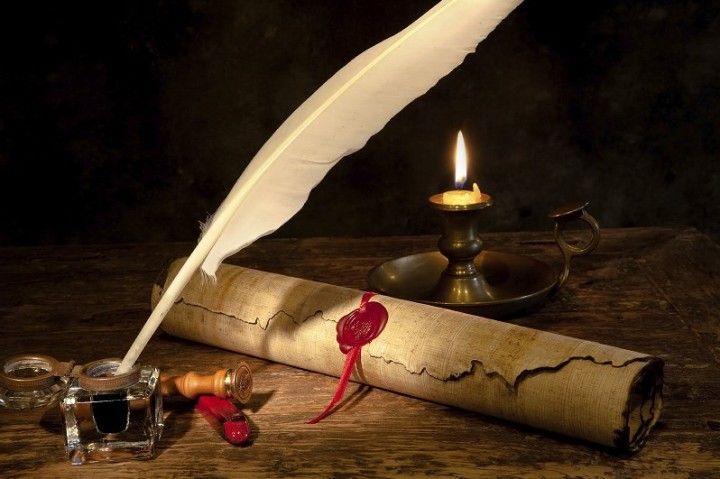 quill and parchment