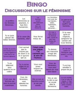 Exemple de Bingo Féministe. (source: Blogspot des Furies.